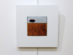 Vitrified enamel painting by Shelagh Boyle