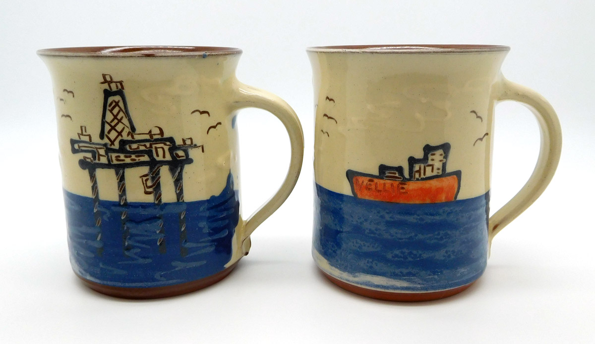 mugs, by Cromarty Pottery